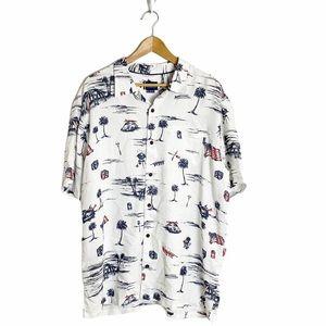 O'Neill short sleeve button down graphic shirt xl